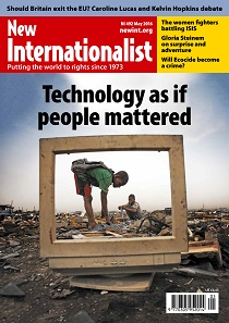 New Internationalist issue 492 magazine cover