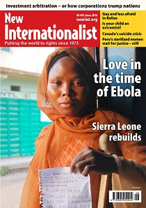 New Internationalist issue 493 magazine cover