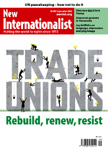 New Internationalist issue 495 magazine cover