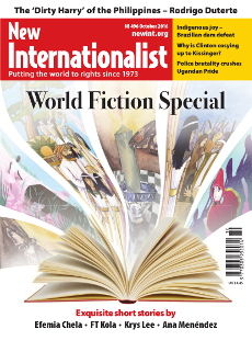 New Internationalist issue 496 magazine cover