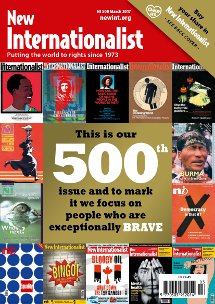 New Internationalist issue 500 magazine cover