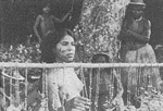 Yagua woman - forever on display. Photo: Ellen Drake