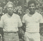 Paliau Lucas and his adoptive father Paliau Maloat, also a social reformer. Photo: Colin De'Ath