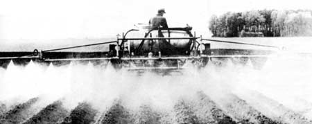Pesticide spraying in California uses up to 300 million pounds a year or ten pounds per person.