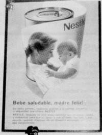 Nestlé poster at a Honduras social security hospital; 1980.