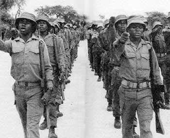Namibian troops kept in step by South Africa