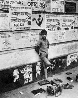 Slogans on the wall in Marxist West Bengal are not enough to solve the problem of child poverty.