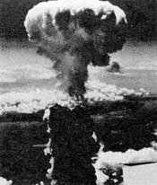 Mushroom cloud images like this one from Nagasaki may have the wrong effect.