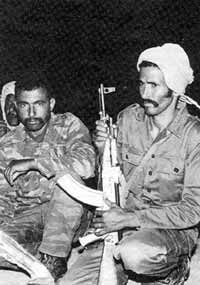 Polisario commandos prepare for their nightly assault on the 2,000 km long Moroccan wall.