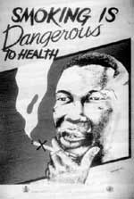 Nigerian anti-smoking poster: a bold move to stamp out tobacco addiction.