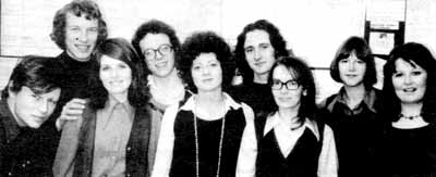 The 1973 NI team, including on the left Dexter Tiranti (auditioning for a François Truffaut movie), Peter Adamson and Lesley Adamson. We think Troth Wells was taking the photo.