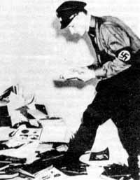 Nazis disposing of homosexual books.