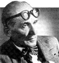 The celebrated Swiss architect Le Corbusier (1887 - 1965).
