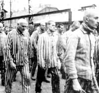 Inside Auschwitz: Willem Dafoe (centre) in Triumph of the Spirit.
