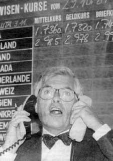 Hot line to the money god. Market economics is an international language.