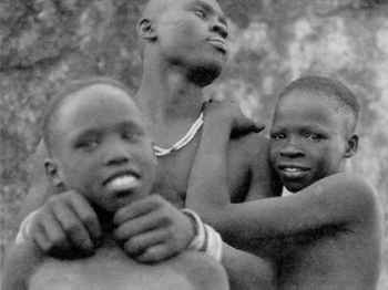 Happier days for Kafi (centre) and his brothers, the subjects of Arthur Howes' TV film.