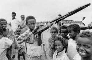 Deadly games imitate reality in a Somali refugee camp. Men with guns get the press but the country's crisis has also produced sacrifice and heroism.