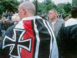 Neo-nazi thugs make their position clear; politicians play a more complex game.