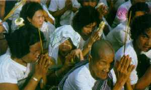 Prayers for peace during the elections in Cambodia.