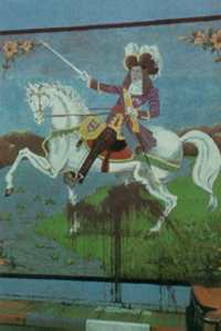 A mural of William of Orange, whose victory the parade remembers.