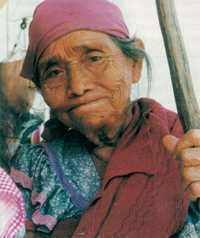 A refugee from the Chiapas town of Altamirano