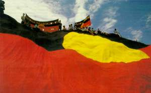 True colours of the Aboriginal flag: despite racist propaganda, Australian history did not begin with the arrival of Europeans.