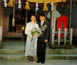 East weds west: Michèle kept her name, Tomoyuki's family accepted.