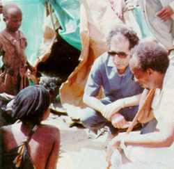 The peacemaker. Mohamed Sahnoun at work in Somalia in 1991.