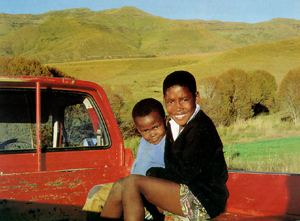 On the road in a harsh environment: heirs to the earth of the Eastern Cape.