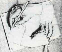 drawing by M C ESCHER
