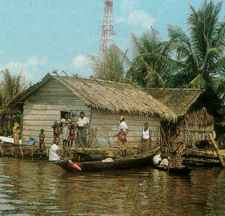 Oil rig village in the troubled Niger delta.