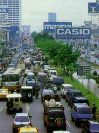 Imitating the very best of the West: beautiful downtown Jakarta.