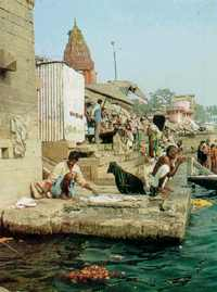 The tide of Western consumerism washes even the most sacred shores of the Ganges.