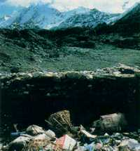 Spoiling the view: tons of garbage on Mount Everest could be cleared up in three years.