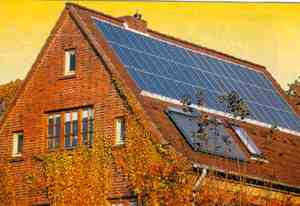 Holland plans to install solar panels on 100,000 homes by 2010 and Japan has plans for 70,000 by 2005. The UK agreed to help fund a grand total of two houses.