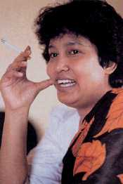 Taslima Nasrin: still defiant in spite of death threats.
