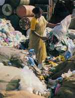 Recycling rags - the city produces 5,000 tonnes of garbage each day.