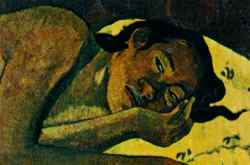 Detail from Nevermore by Paul Gauguin.