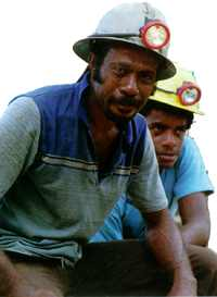 Bad conditions: miners at Fiji's Emperor gold mine have been on strike since 1991.