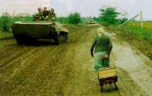 Life during wartime: civilians paid for the indiscipline of the Russian Army.
