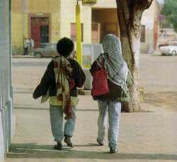 Walking away from globalist entanglements: peace and quiet on the streets of Asmara, Eritrea.