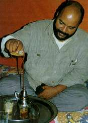Tea is the universal consolation for Saharawis, including poetic politician Mustafa Sid el Bashir.