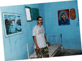 Ezzein Saheb Betti in the underground hospital he directs. The beds are empty while the ceasefire holds. Photo by CHRIS BRAZIER.