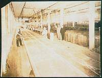 An early denim mill in the US
