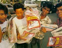 Higher prices threaten Indonesia's 100,000 newspaper sellers.