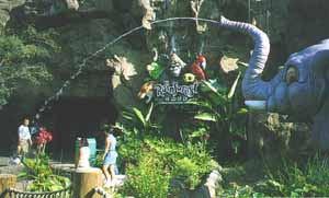 The Rainforest Cafe : shopping and eating with an ecological theme.
