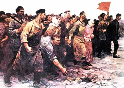 'Working people arise!' - the Russian Revolution's idealized self-image by painter V SEROV.