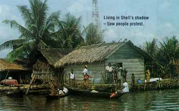 Living in Shell's shadow - Ijaw people protest.