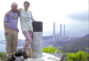 The authors overlooking Lamma Island power plant.
