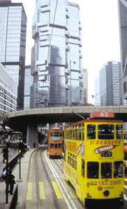 Hong Kong with its clean trams and escalators.